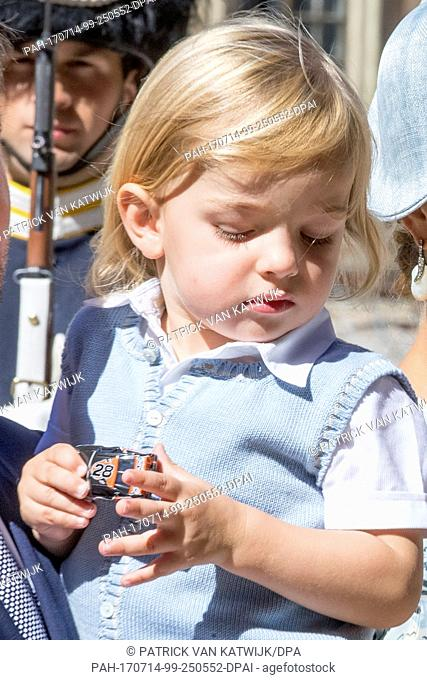 Princess Madeleine, Chris O'Neill, Princess Leonore and Prince Nicolas of Sweden attend the 40th birthday celebration of Crow Princess Victoria at the Royal...