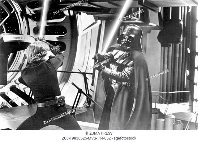 May 25, 1983; Hollywood, CA, USA; MARK HAMILL as Luke Skywalker dueling with DAVID PROWSE as Darth Vader in 1983 movie 'Return of the Jedi' directed by Richard...
