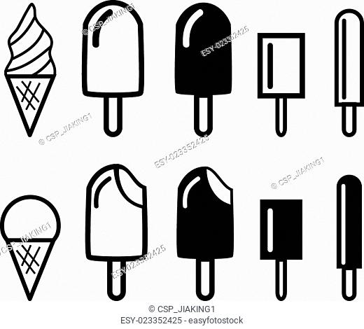Ice cream icons and symbol. vector illustration