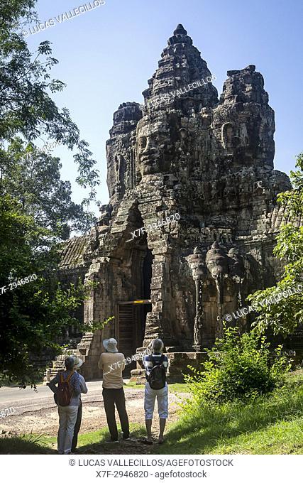 South Gate of Angkor Thom, Angkor, Siem Reap, Cambodia