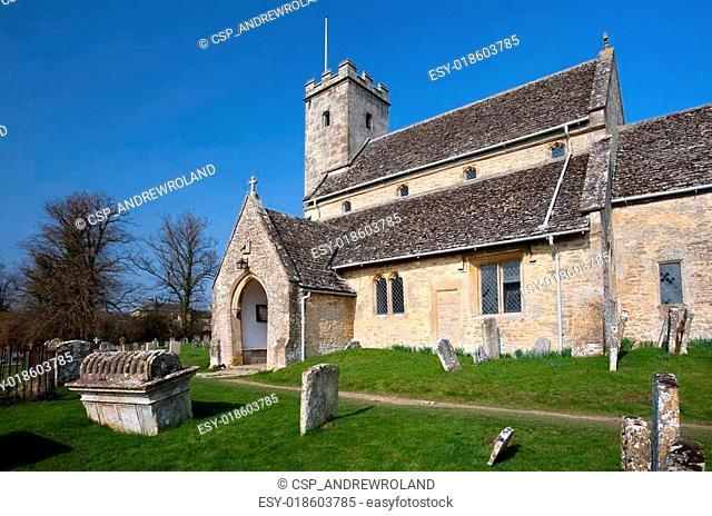 Cotswold church at Swinbrook