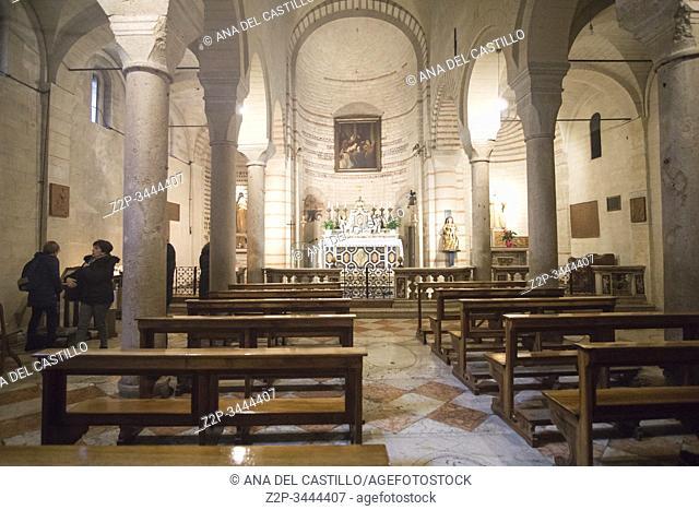Verona Veneto Italy on November 24, 2019: Santa Maria Antica church near the Palazzo della Ragione