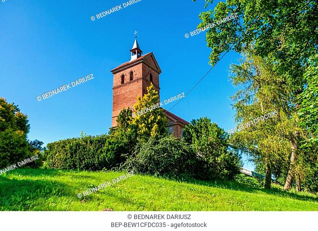 Church of Saint Peter and Saint Paul in Dobino, village in West Pomeranian voivodeship. Poland