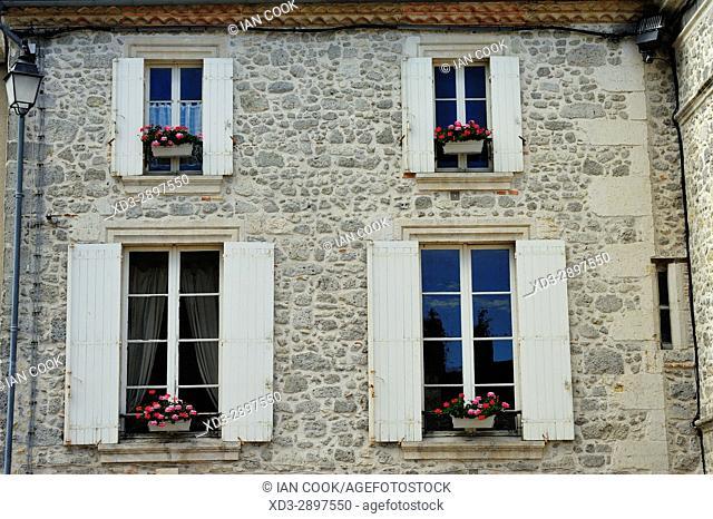 Place Armand Fallieres, Mezin, Lot-et-Garonne Department, New Aquitaine, France