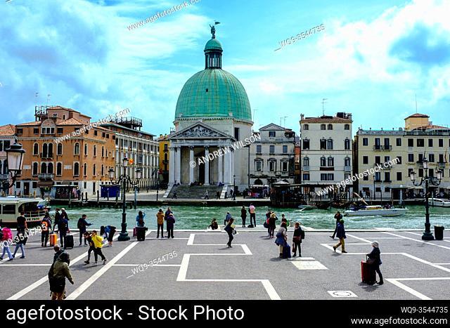 San Simeone Piccolo, Chiesa di San Simeone Piccolo by the Grand Canal, Venice, Italy