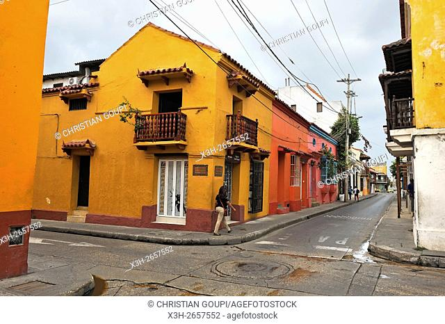 San Diego area, downtown colonial walled city, Cartagena, Colombia, South America