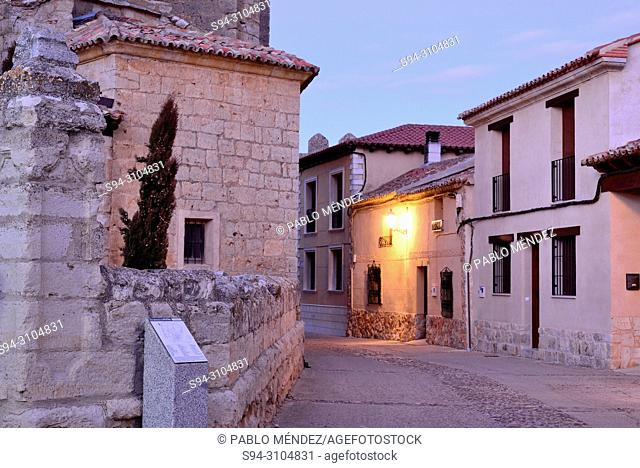Church street of Urueña, Valladolid, Spain