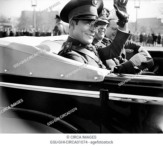Close-Up Portrait of Fulgencio Batista, Cuban Leader, on Visit to Washington, DC, USA, November 10, 1938