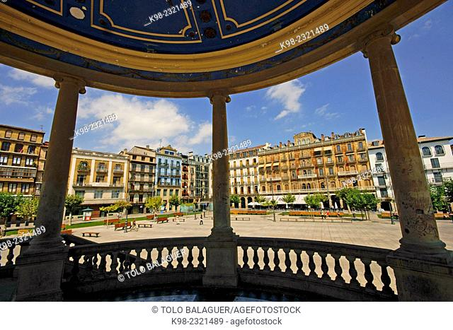 Plaza del Castillo square, Pamplona, Navarra, Spain