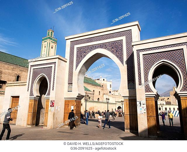 Entry gate to the Medina in Fez, Morrocco