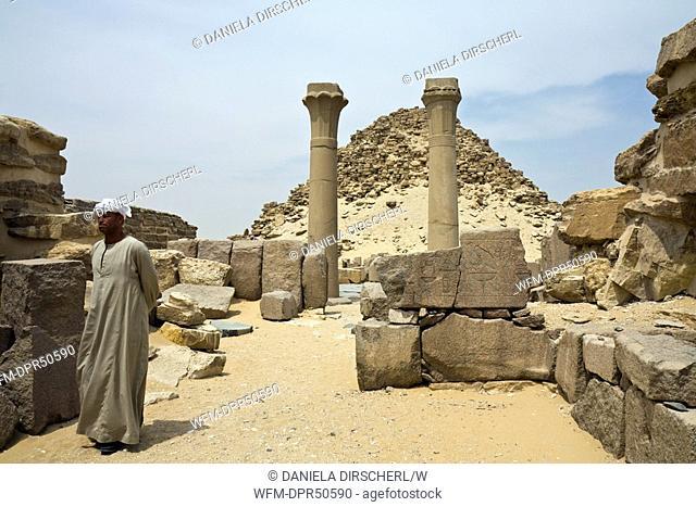 Mortuary Temple and Pyramid of Pharaoh Sahure, Abusir, Egypt