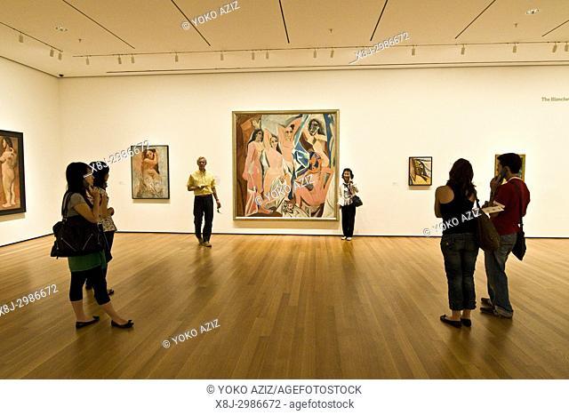 Les Demoiselles d'Avignon by Pablo Picasso, 1907, MOMA Museum of Modern Art, Manhattan (New York, United States of America)