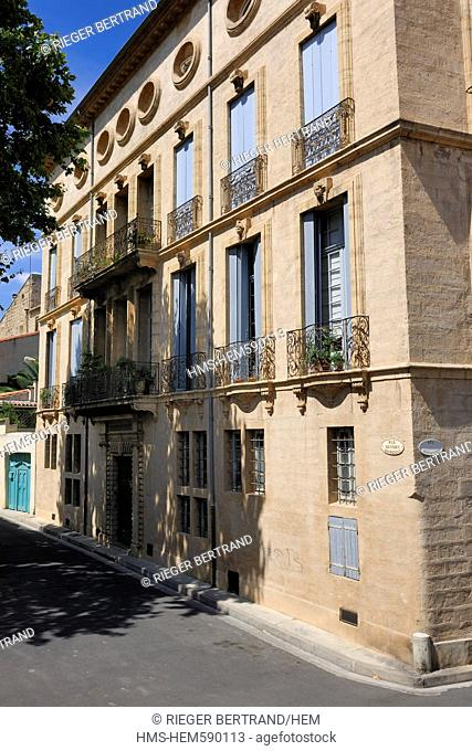 France, Herault, Pezenas, Hotel de Malibran Mansion in Rue Denfert Rochereau