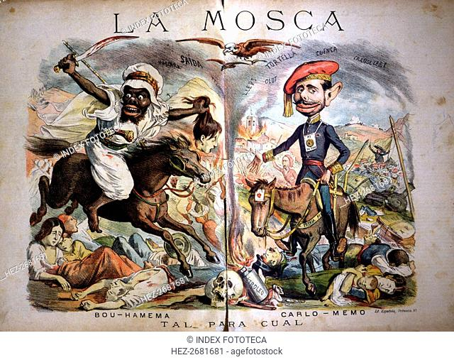 Satirical caricatures of the situation in Morocco and the Carlist War, 'Tal para Cual', published?