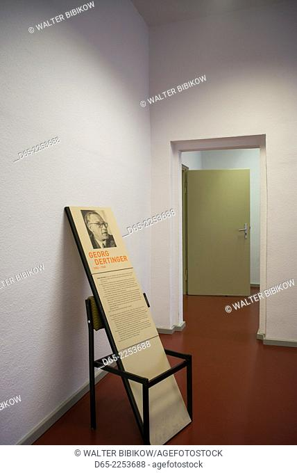 Germany, Berlin, Friendrichshain, Stasi Museum, DDR-era secret police museum in former secret police headquarters, exhibit of secret police victims