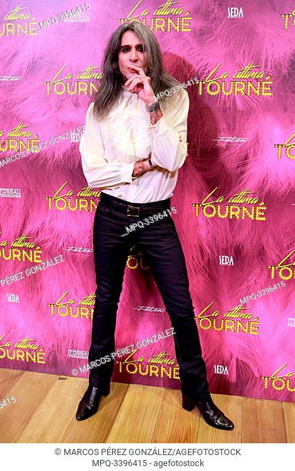 """The Actor and singer Mario Vaquerizo Attends the photocall of the theater play """"La ultima Tourne"""" (The last Tourne)..October 15, 2019 Cofidis Alcazar Theater"""