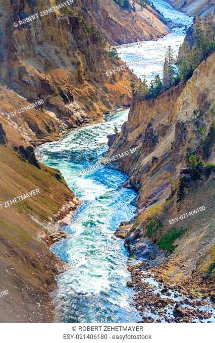 The Grand Canyon of the Yellowstone National Park, Wyoming