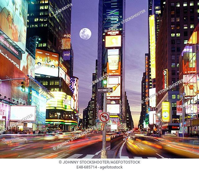 Street scene  Times square  Midtown Manhattan . New York. USA