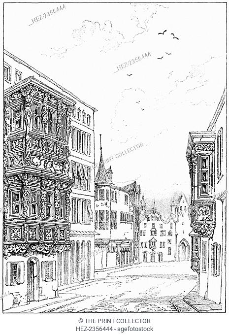 'Street in St Gall', 1835 (1900). A print from The Magazine of Art, Cassell and Company, Limited, 1900