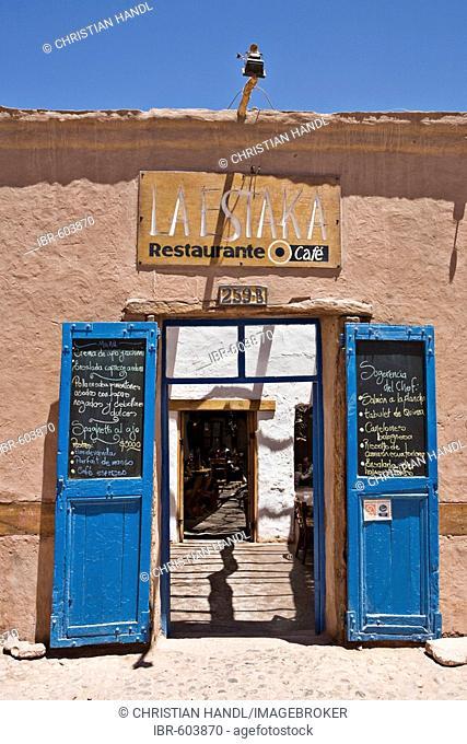 Restaurant in San Pedro de Atacama, Región de Antofagasta, Chile, South America