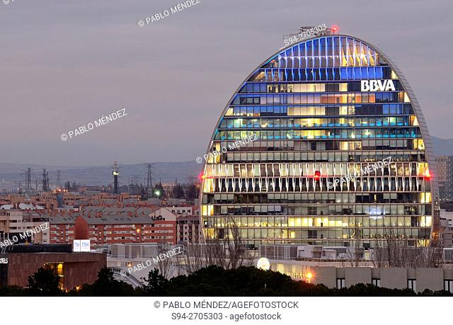 """Building called """"""""La Vela de Sanchinarro"""""""" in Madrid, Spain"""