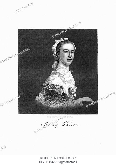 Mercy Warren, American patriot and writer, 1872. During the time of the American Revolution, Mercy Otis Warren (1728-1814) hosted political meetings in her home
