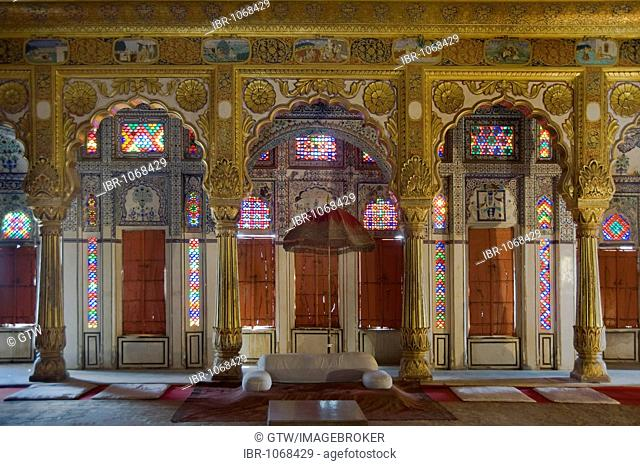 Phool Mahal or Palace of Flowers, Mehrangarh Fort, Jodhpur, Rajasthan, India, South Asia