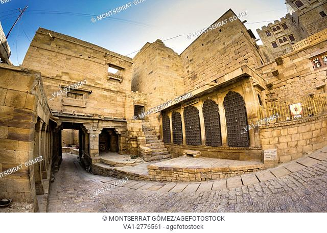 Gates for the streets inside the fort of jaisalmer