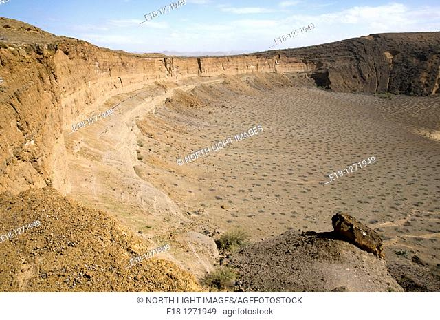 Mexico, Sonora, Rocky Point, Puerto Penasco  Pinacate Biosphere Reserve  Cerro Colorado volcanic crater
