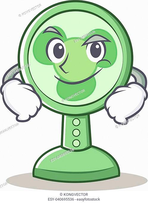 Smirking fan character cartoon style vector illustration