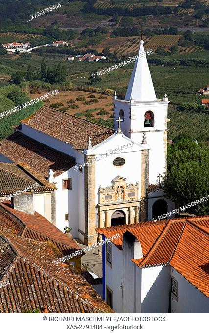 Igreja de Santa Maria, Obidos, UNESCO World Heritage Site, Portugal