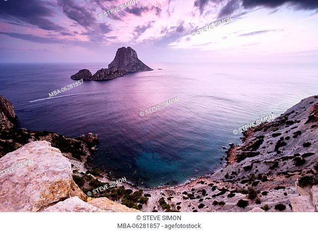 View from Isla de es Vedrá, Ibiza, Spain