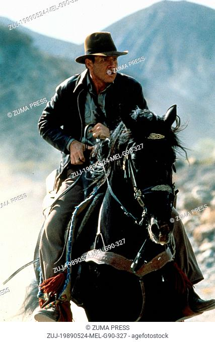 May 24, 1989; Amarillo, TX, USA; HARRISON FORD stars as Indiana Jones in the action adventure film 'Indiana Jones and the Last Crusade' directed by Steven...