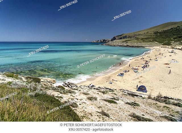 Cala Mesquida beach and bay, Capdepera, Majorca, Balearic Islands, Spain,