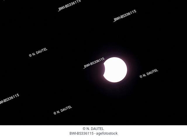 partial solar eclipse, 04.01.2011, Germany, Baden-Wuerttemberg, Baden-Baden