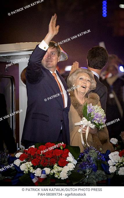 King Willem-Alexander and Princess Beatrix of The Netherlands attend the liberation concert on the Amstel river in Amsterdam, The Netherlands, 5 May 2015