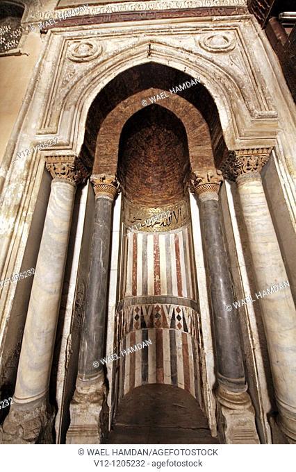 Qibla Mehrab (prayer niche) of the Ahmad Ibn Tulun mosque, Cairo, Egypt