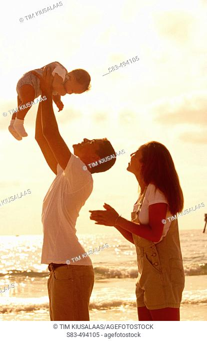 Couple and baby