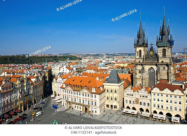 Staromestské Namesti. Old Town Square. View from old town hall. Prague. Czech Republic