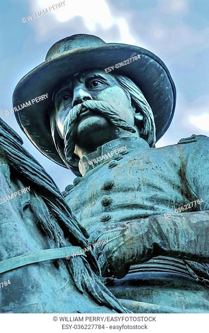 General John Logan Memorial Civil War Statue Logan Circle Washington DC. Statue dedicated in 1901, Sculptors Franklin Simmons and Richard Hunt