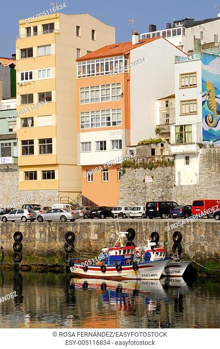 Fisherboats at Malpica de Bergantiños, A Coruña, Galicia, Spain