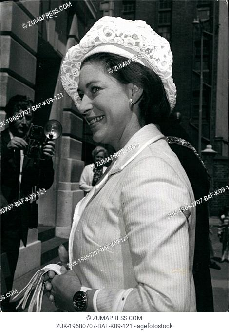 Jul. 07, 1968 - Princess Margaret Attends General Meeting Of NSPCC: H.R.H. Princess Margaret attended the annual general meeting of the National Society for the...
