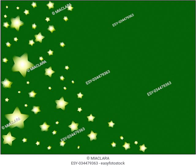 stars and green background