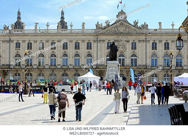 France, Lorraine, Meurthe-et-Moselle, Nancy, Town hall, Place Stanislas