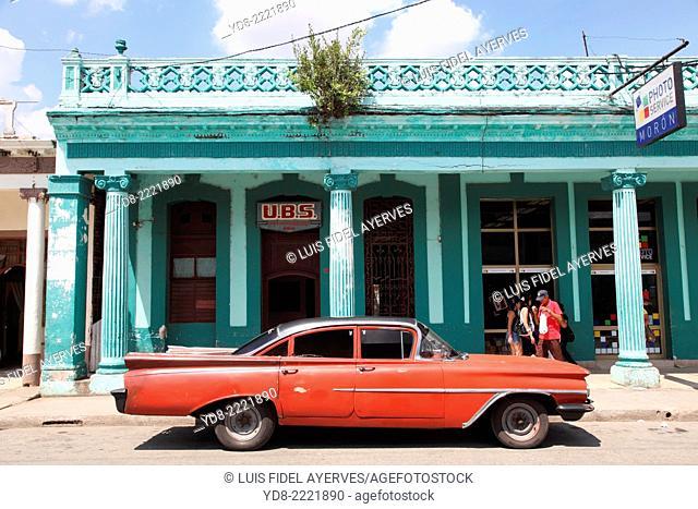 Old car in Moron, Ciego de Avila, Cuba