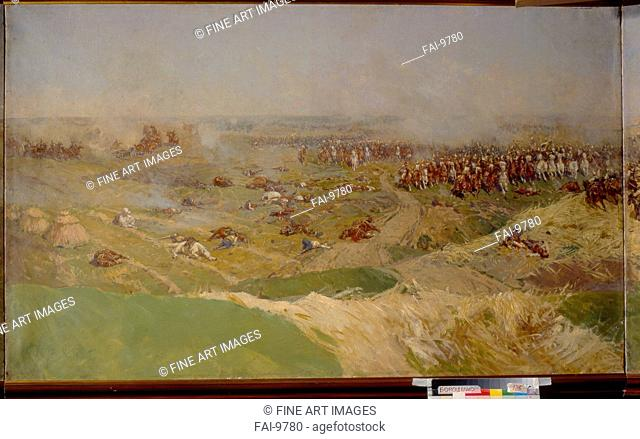 The Battle of Borodino on August 26, 1812. Roubaud, Franz (1856-1928). Oil on canvas. Russian Painting, End of 19th - Early 20th cen. . 1910