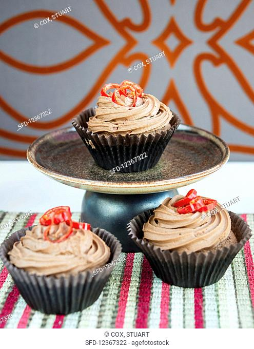 Chilli and chocolate cupcakes