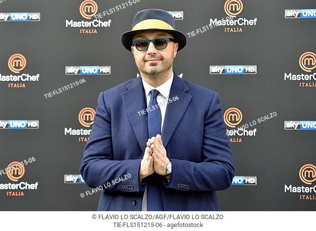 The restaurater Joe Bastianich during the photo call of the fifth edition of tv programme Masterchef Italy, Milan, ITALY-15-12-2015