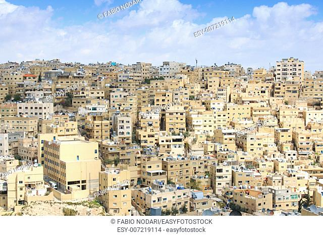 Amman, Jordan: Panoramic view of Amman from one of the hills sorrounding the city