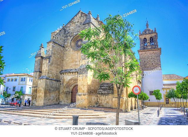 HDR of Santa Marina de Aguas Santas Church, Plaza de Santa Marina, Córdoba, Andalusia, Spain, Europe